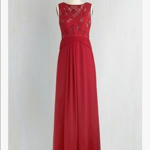 Red Floor-Length Gown (Red Raspberry Radiance)